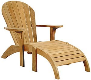 Buy Adirondack Lounge Chair and Footrest