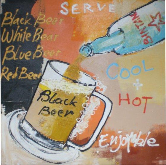 Buy Black Beer Painting