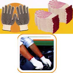 Buy 100% Cotton PVC Dotting Working Gloves
