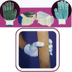 Buy 100% Polyester Dotting Gloves