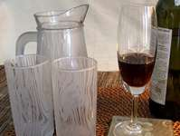 Buy Custom Glassware - Motif & Frosted effect