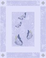 Buy Butterfly Blue Bathroom Ceramic Tile