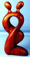 Abstract Wood Carving