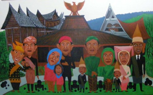 Buy Caricature of a Large Family