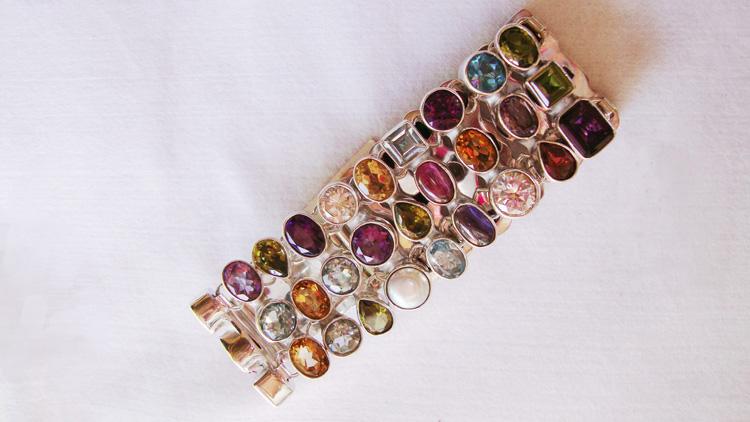 Buy Sterling Silver Gemstone Bracelet