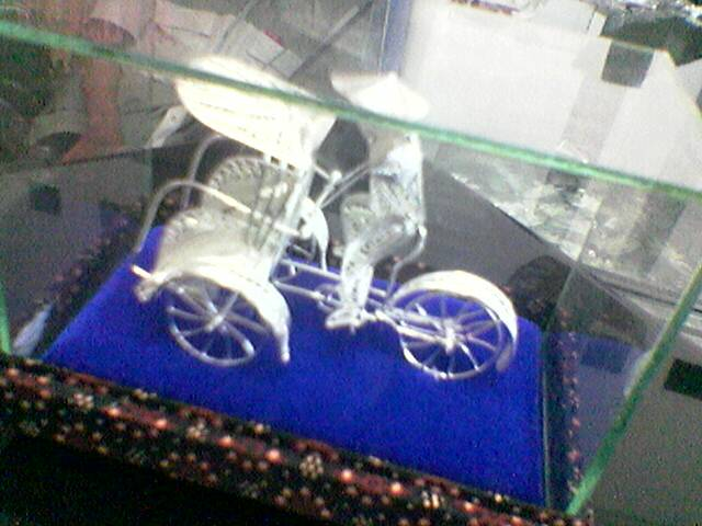 Buy Pedicab Copper Miniature