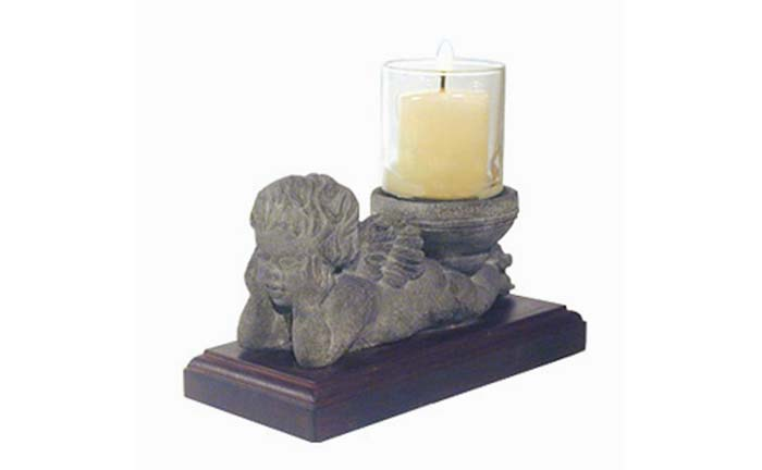 Buy Reclining Cherub Candle Holder