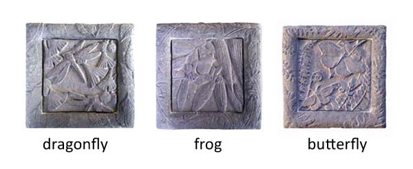 Buy Dragonfly, Butterfly and Frog Stone Wall Plaque