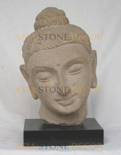 Buy Gandhara Buddha Head Statue with wood base