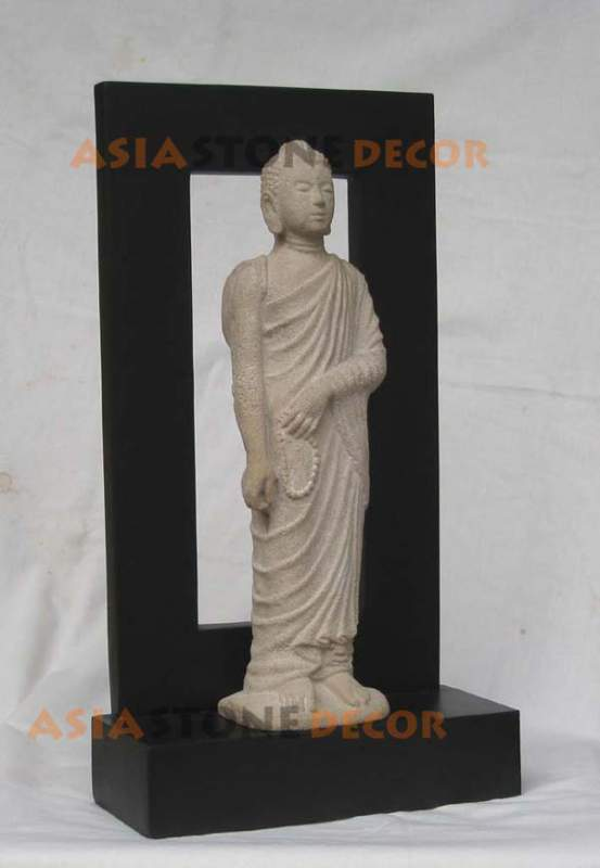 Buy Standing Buddha Statue with Shadow Frame Background