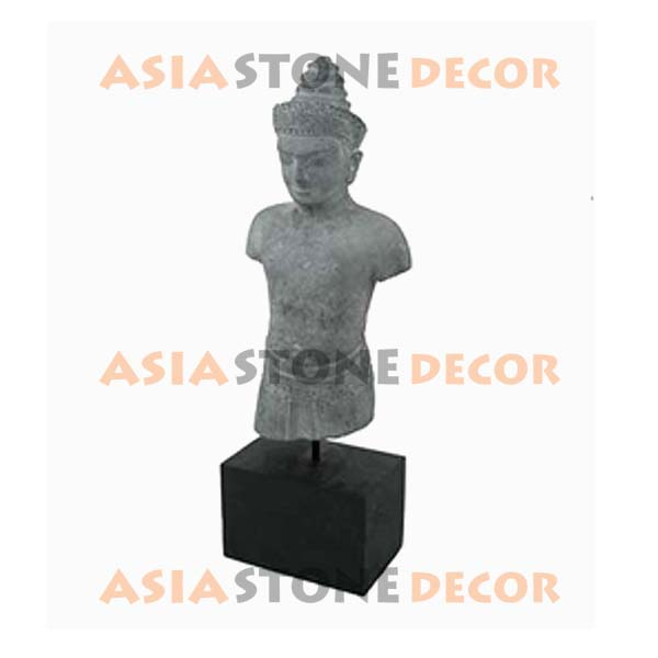 Buy Ethnic Thai Male Stone Sculpture with Wood Base