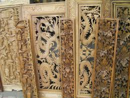 Bali Wood Relief Carving Sculpture
