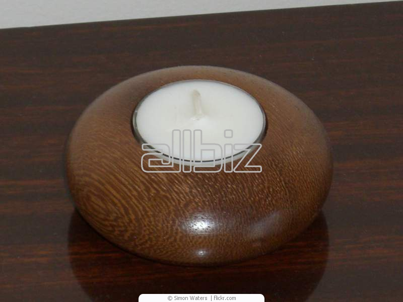 Buy Classy Bali Stone and Wood Candle Holder