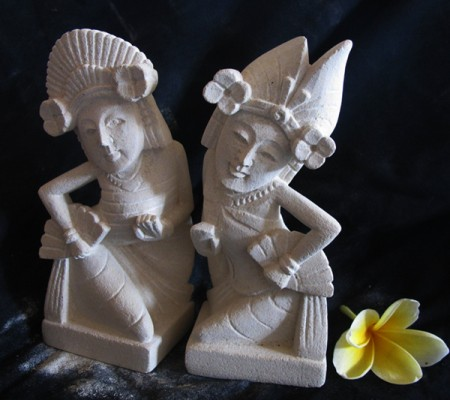 Buy Bali Stone Carving a miniature of Jogeg Dance