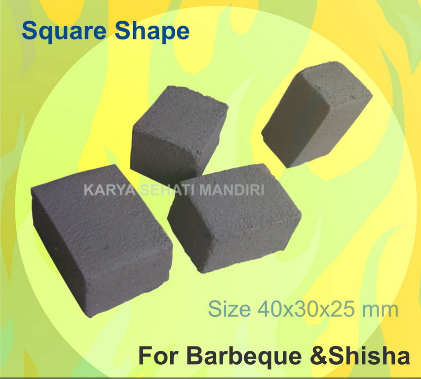Buy Coco briquete, square 40x30x25 mm for barbeque & shisha