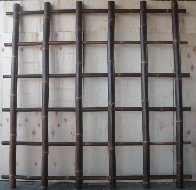 Buy Plaid black bamboo fences