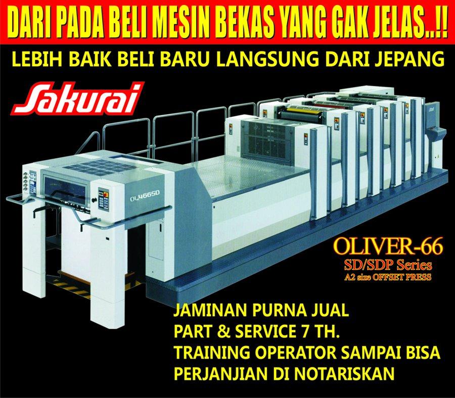 Buy Mesin cetak 466 sakurai oliver