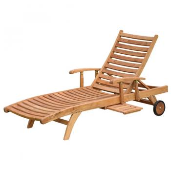 Buy Teak Wood Horizon Sun Lounger with Arm