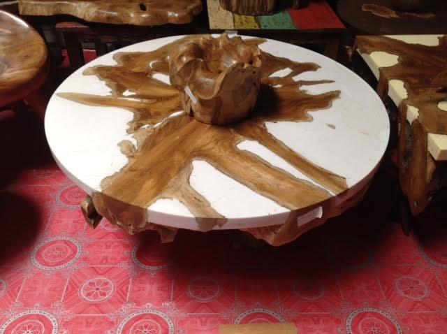 Buy Teak Root Resin Coffee Table