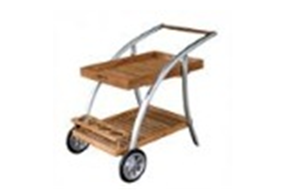 Buy Aluminium Teak Trolley