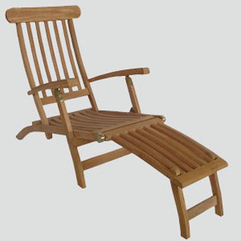 Buy Teak outdoor patio steamer deck chair, sunbeds