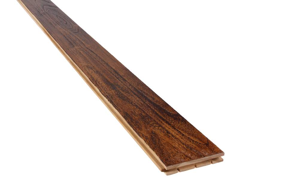 Buy Teak Solid Wood Flooring Sandblast T&G