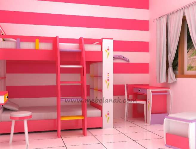 kamar anak pink in jepara online store mebel anak ltd
