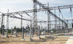 Steel construction for substation