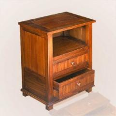 Bedside 2 drawer 1 shelf