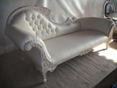 Flower Carved Single Ended Sofa