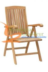 Teak Miami Reclining Chair