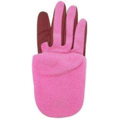 Combination Synthetic and Knit Half-Finger Golf