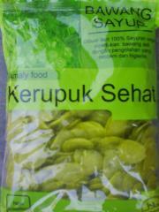 Kerupuk Bawang Sayur Crackers with onion