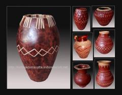 Lombok terracotta-3, vase