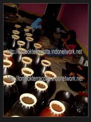 Lombok terracotta-4, vase