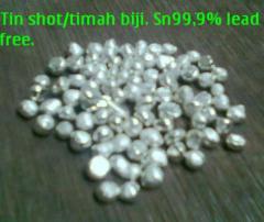 Tin shot/timah biji. lead