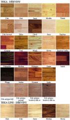Papan kayu bahan dasar Flooring Boards