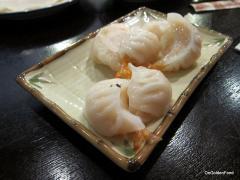 Tail on shrimp dumpling