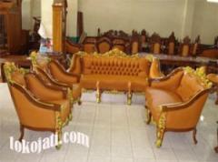 Set Kursi Tamu Sofa Jati