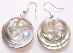 Earring Shell Rezin