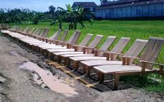 Eco teak garden,deckchairs