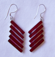 Earring Sterling Coral