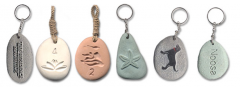 Key Ring River Stone