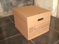 Karton, box file model top bottom