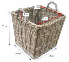 Log Rattan Basket