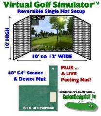 Indoor Golf Simulator Single RH LN System Practice