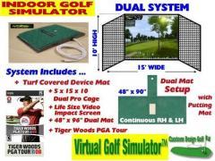 Indoor Golf Simulator Dual Practice & Play