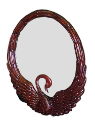 Mirror Swan Carved