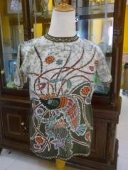 Shrimp Motif Batik T-Shirt