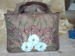 Ribbon embroidery bags 3